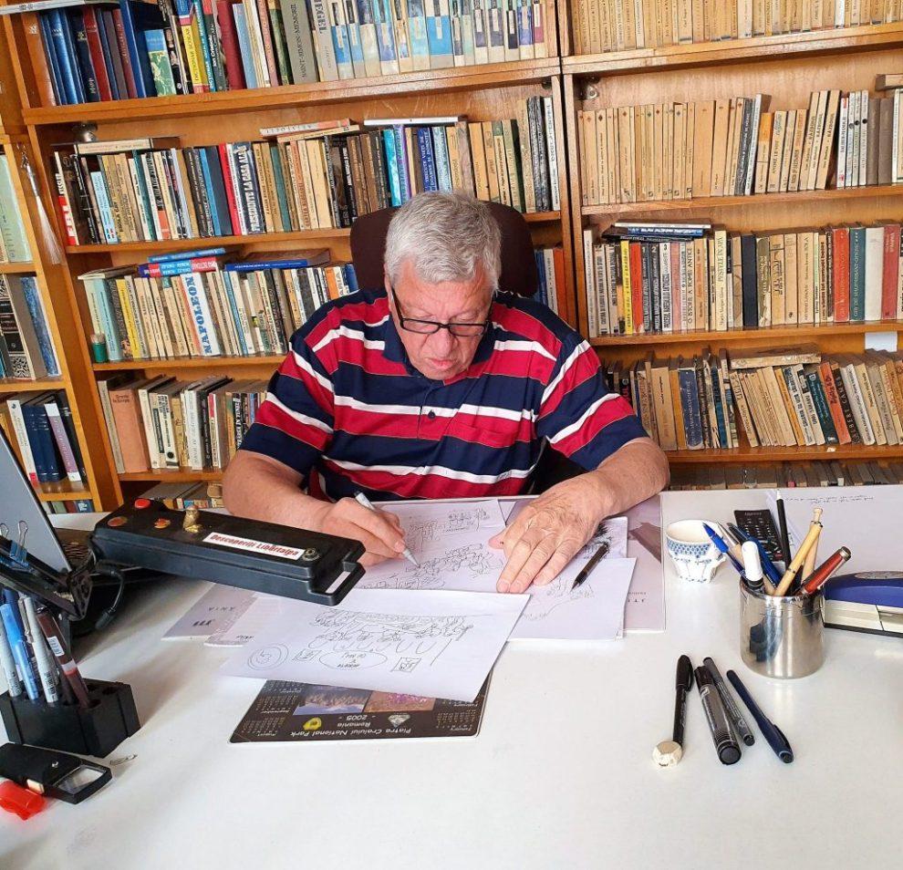 Caricaturistul OCTAVIAN ANDRONIC face mișto de coronavirus și de ceea ce a generat el, în România