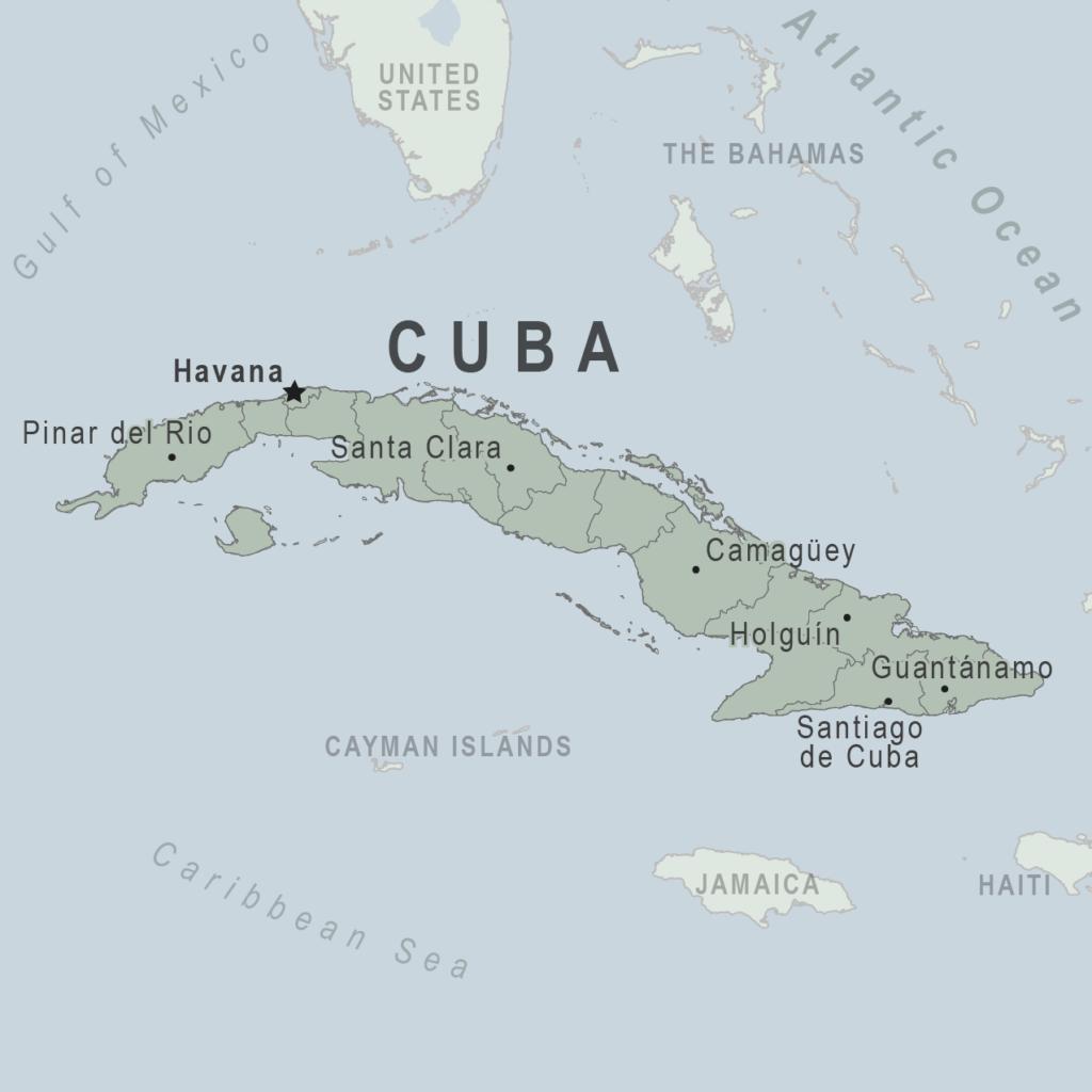harta CUBA